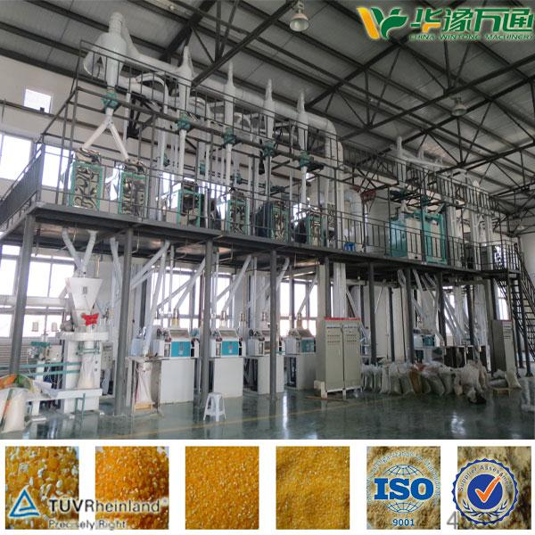 300T/D Corn/Maize Flour Mill Machinery
