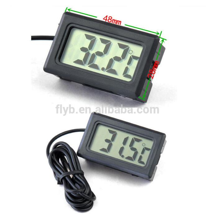Smart 48*24mm LCD probe digital temperature sensor for car fridge tank