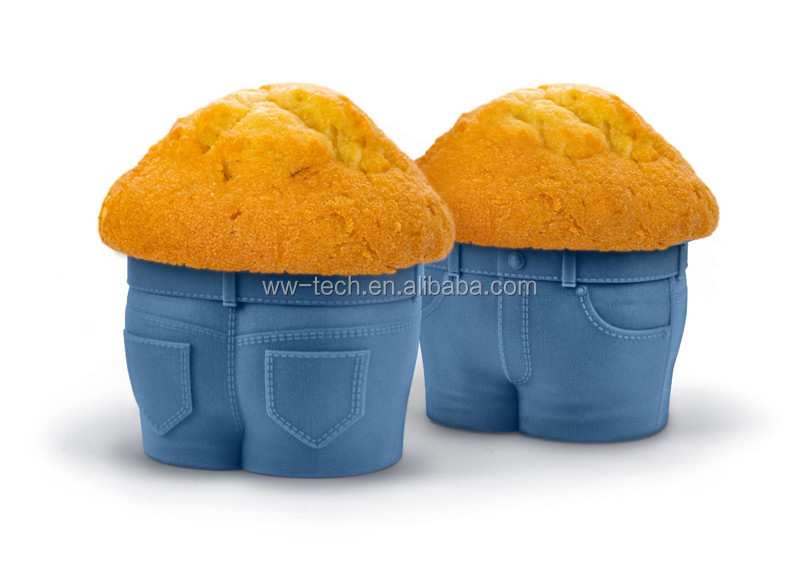 Hot selling Jeans shape silicone cake mold
