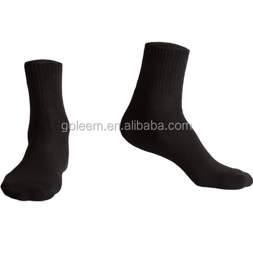 Mens black sport enkel athletic sokken