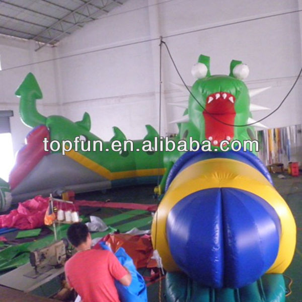 exciting children inflatable sports tunnel