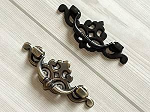 Get Quotations 1x Vintagen Drop Bail Dresser Pull Drawer Pulls Handles Black Antique Bronze Rustic Kitchen Cabinet Door