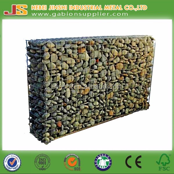 Heavy zinc coated Gabion basket/stone retaining wall/gabion box