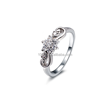 2016 hot sale 925 silver with rhodium plated ring , 3A zircon