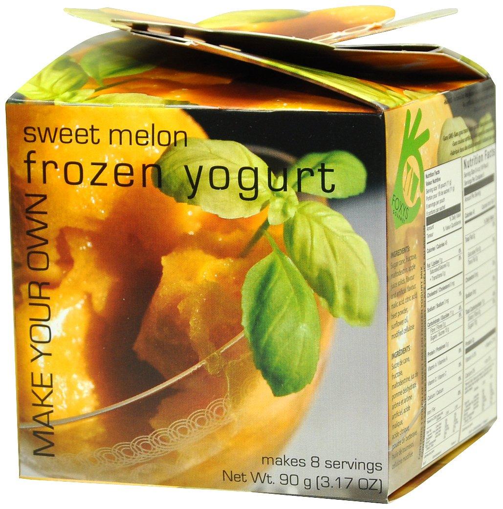 Foxy's Gourmet Frozen Yogurt, Sweet Melon, 3.17 Ounce