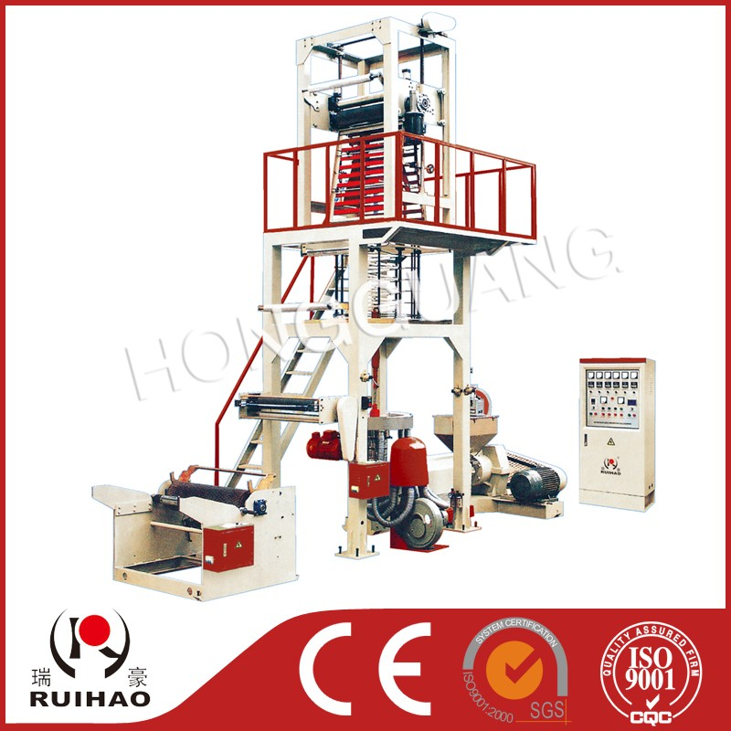mono layer rotary die single winder hdpe ldpe lldpe plastic film blown machine