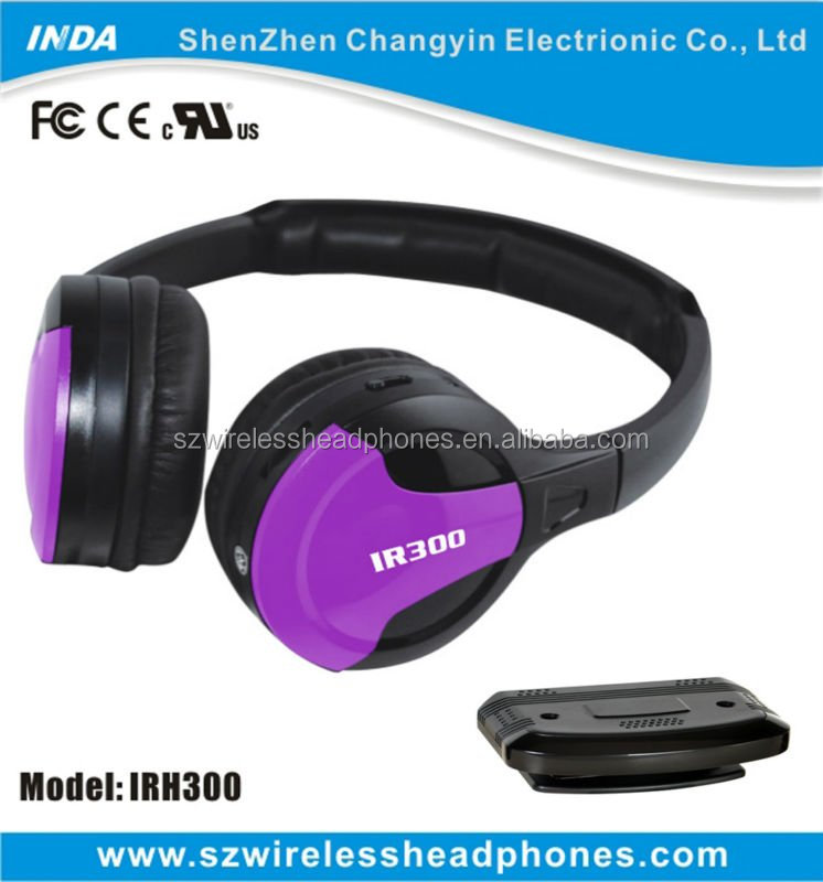 Television Listening IR headsets Home Stereophone Closed-Ear Heaphones IRH300