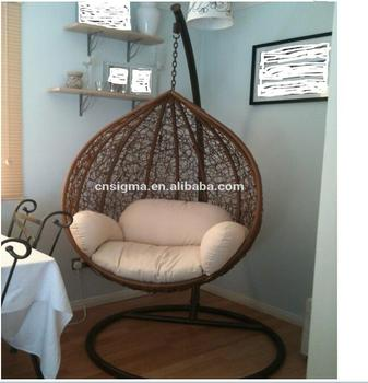 Outdoor Rattan Wicker Patio Hanging Swing Egg Chair With Stand Buy