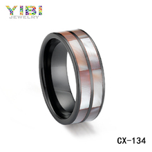 Jewelry ladies accessories christian grooved alumina ceramic ring