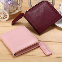 Soft leather zipper wallet,coin purses wholesale wallet women