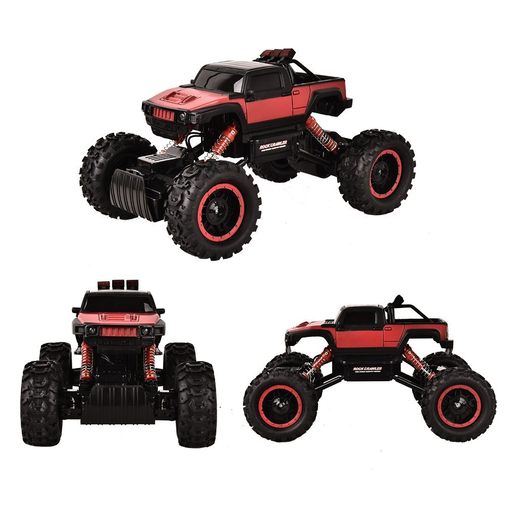 TTLIFE Rock Crawler RC Car - 4x4 Remote Control Car - 1/14 Rock Master Rock Crawler with 2.4Ghz Controller(red)