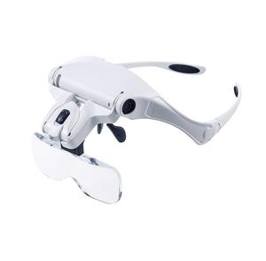 Adjustable Loupe Headband Magnifying Glass with LED Magnifier
