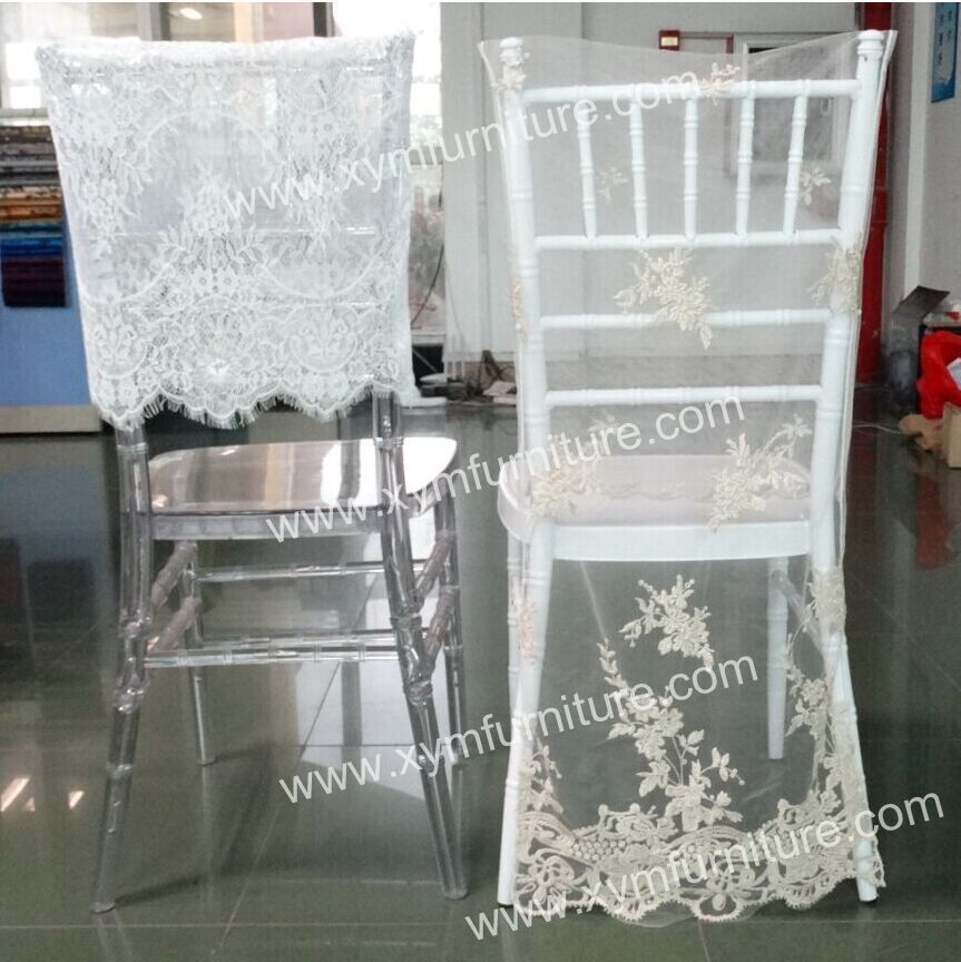 wholesale cheap custom made fancy organza ruffled curly wedding chair covers