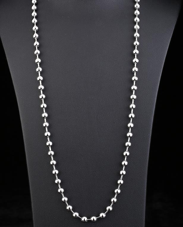 Width 1.2mm/1.5mm/2mm/2.4mm/3.2mm/4mm/5mm/6mm/8mm/10mm Stainless Steel Shiny Polished Round Ball Beads Necklace Chain
