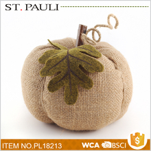 tabletop felt burlap pumpkin thanksgiving home decor ideas wholesale with cheap price