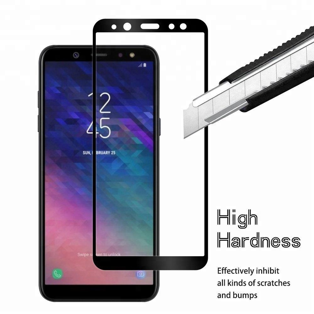 for Samsung A6 2018 3D screen protector Black Full Coverage 3D Tempered Glass for Samsung a6 plus 2018