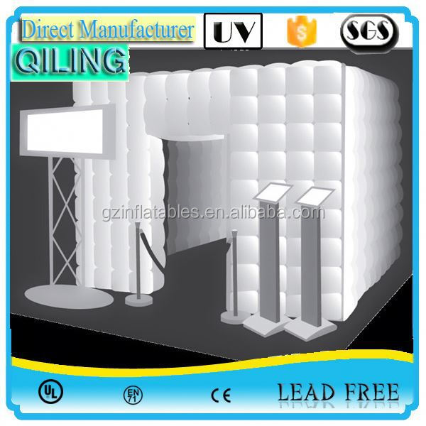 2017 qiling best welcomed large inflatable photo booth with camera