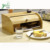 Wholesale Countertop Bamboo Bread Box Bread Storage Bin For Kitchen Counter Large Capacity