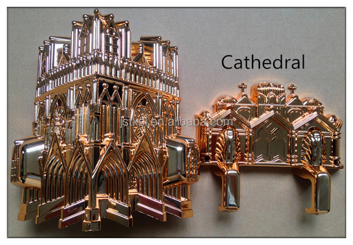 Wholesale Best Price Funeral Casket Corner Model Cathedral with plastic material