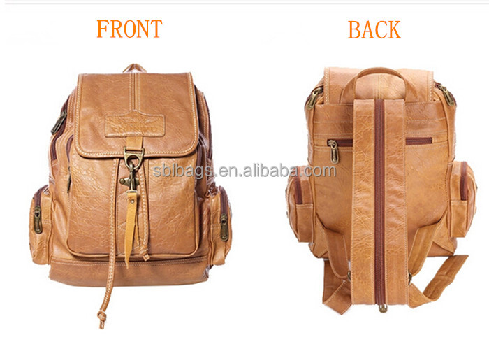 Vintage Leather Backpack & Cute Backpack For High School Girls ...