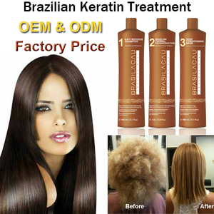 Brasil Cacau Professional salon brazilian keratin hair treatment hair straightening protein