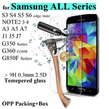 9H 0.3mm Ultra Thin Real Premium Tempered Glass Film 2.5D Screen Protector For Samsung Galaxy Multi-Phone glasses + Cleaning Kit
