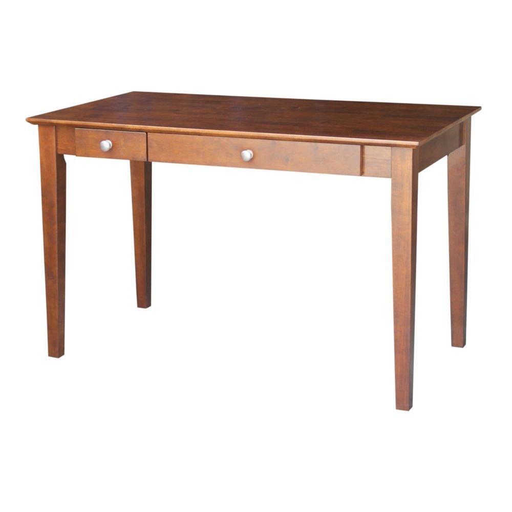 "Desk with Flip Drawer - 48""W Espresso Dimensions: 48""W x 26""D x 30""H Weight: 73 lbsBrand:&nbsp.International Concepts"