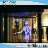 Transparency decorative glass building outdoor led facade with light transparent led media wall display screen
