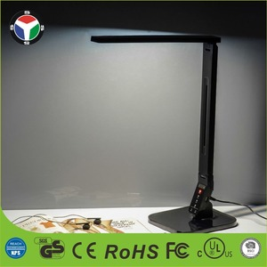 Dimmable Touch-Sensitive USB Charging Black Table Lights LED Desk Reading lamps
