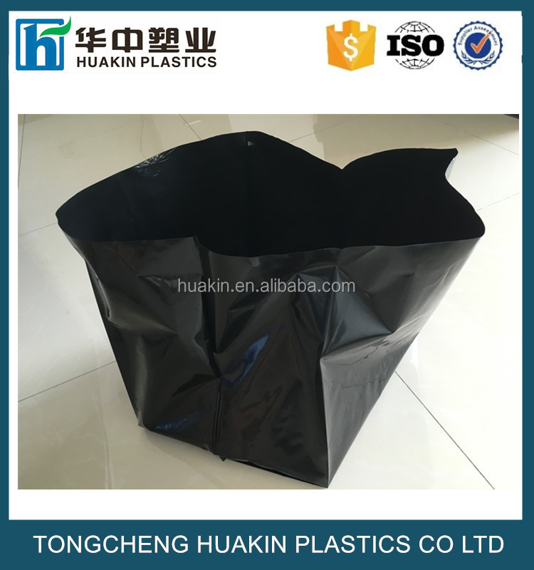 poly Grow Bags black plastic planting soil pot hydroponics bags for planter
