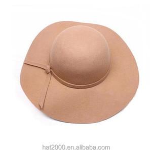 87095a9cc5576 New Vintage Womens Fedoras Hats Wide Brim floppy Wool Bowler Ladies Felt Hat