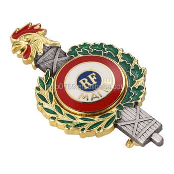 Custom masonic magnetic lapel pin metal badge