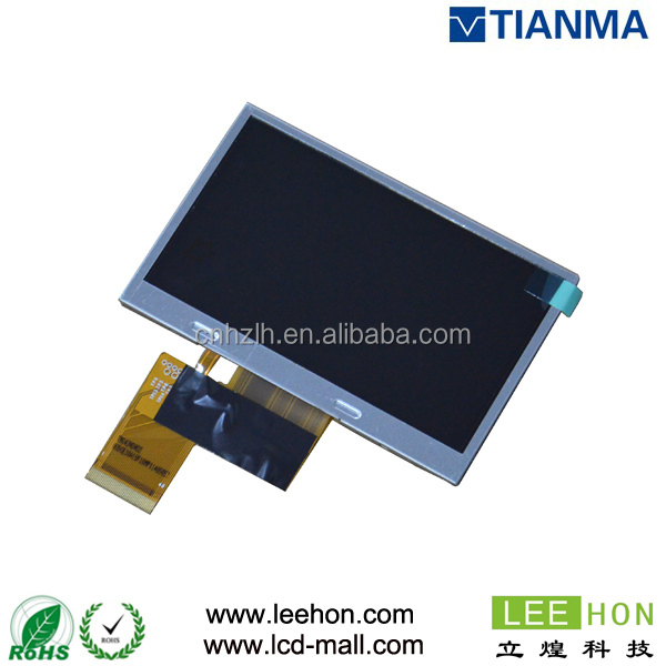 TIANMA 4.3 inch wide screen for portable DVD TM043ndh02 tft lcd module