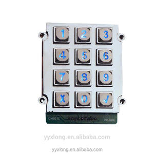 Industrial Telephone LED backlight 3x4 matrix 12keys waterproof keypad open deadbolt lock RS232 keypad