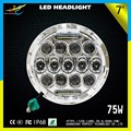 Hi/low Beam 75w 7 Inch Round Led Headlight For Jeep Wrangler Led Driving Light