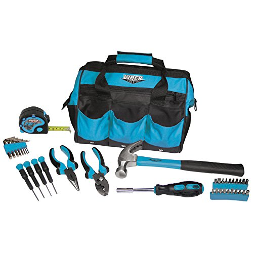 Viper Tool Storage V30TBKTL 30-Piece Tool Set, w/ 12-Inch Tool Bag, Teal