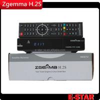 Original satellite receiver HD Zgemma-star h2s Combo dvb s2 dvb t2 satellite receiver no dish