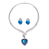 set-33 Xuping gold jewelry set, heart jewellery crystals from Swarovski