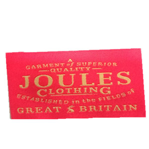 High grade clothing brand labels neck woven labels for clothing