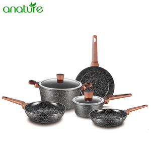 Nonstick Marble Cookware Sets Kitchen Ware