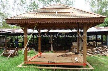 Gazebo De Jardin De Style Asiatique - Buy Gazebo De Jardin Product ...