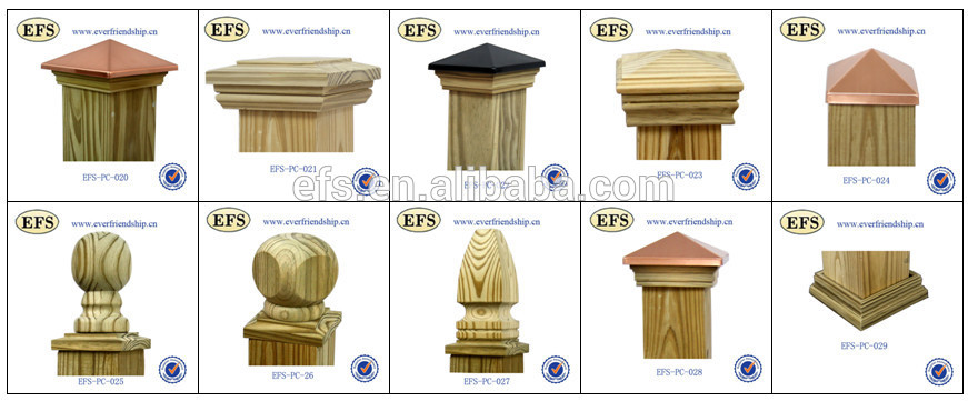decorative fence post. Outdoor Decorative Wood 6x6 Fence Post Caps(EFS-PC-005)