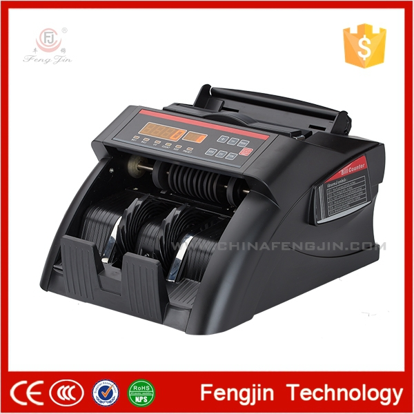 Black WJDFJ08E note bill money counting machine OEM used counter tops manufacturers professional detect fake money