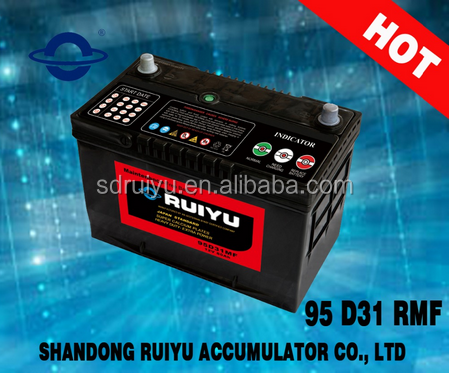 95D31 12V80AH China 12V Auto MF Car Battery