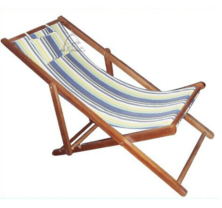 Outdoor Cheap Beach Chairs Wholesale Canvas And Wood Beach