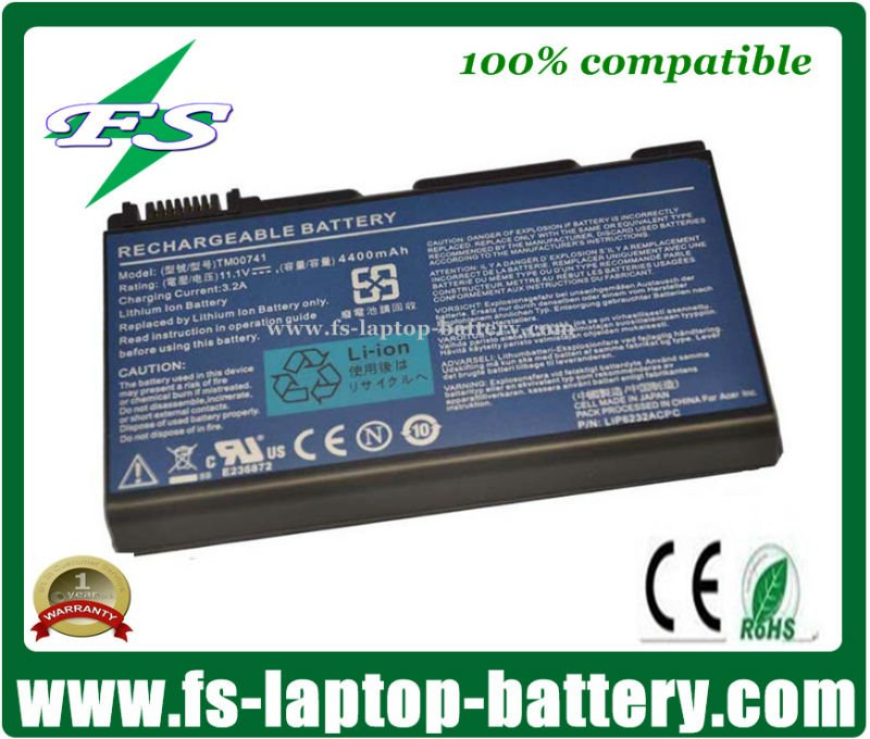 TM00741 GRAPE32 High Quality Laptop Battery for Acer Extensa 5220 OEM Battery