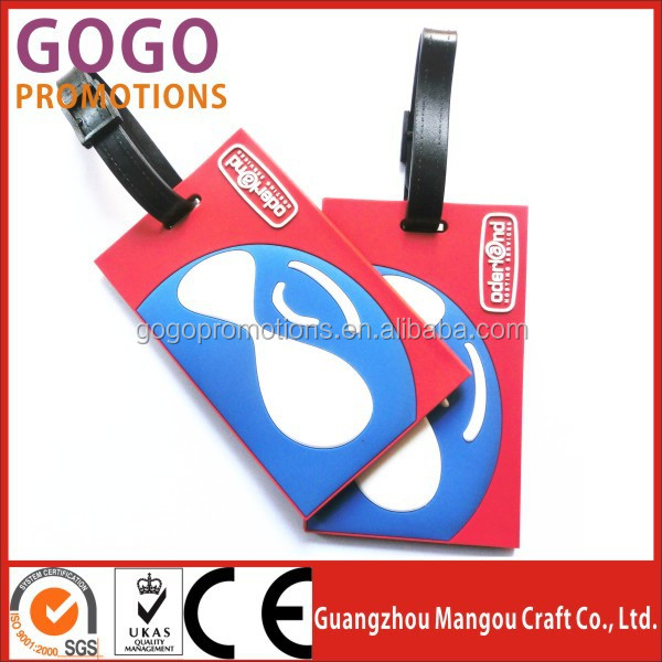 c08caeb5b5 Standard Card Size Wholesale 3D Rubber Custom PVC Luggage Bag Name Tag Manufacturer  Bag Tags