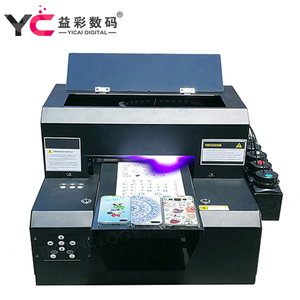 Digital photo fake embossing id card metal label A4 UV printing machine