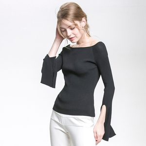 High Quality Casual Pullover Off Shoulder Women Knitwear
