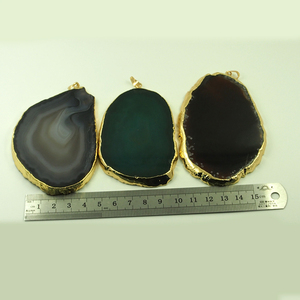 Polishing brazilian agate slices for jewelry